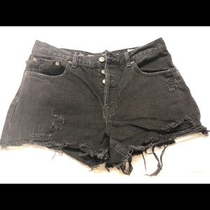 Free People fringed Jean shorts